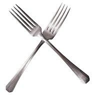 Oneida Community Clarion 1933 Art Deco Forks