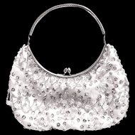 Vintage LaRegale Bead and Sequin Clutch Handbag