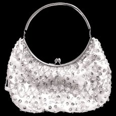 Vintage LaRegale Bead and Sequin Clutch Handbag