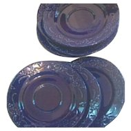 WBach Japan Saucers in Cobalt Blue