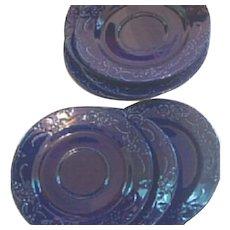 WBach Japan Saucers in Cobalt Blue