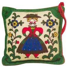 Decorative Reversible Pennsylvania Dutch Pincushion