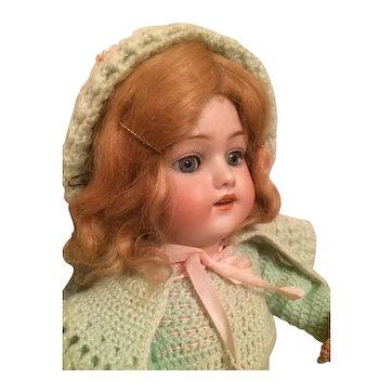 "19"" Kestner 168 Bisque Head Doll Open Mouth Formed Teeth Handmade Costume"