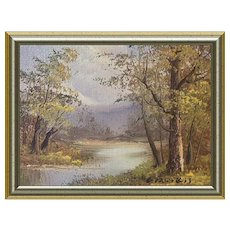 Miniature Oil Painting Early Fall Landscape