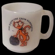 Rare McKee Glasbake Remington The Sassy One Advertising Mug