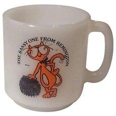 Rare McKee Glasbake Remington The Sassy One Advertising Mug