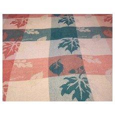 Autumn Leaves Double Weave Cotton Tablecloth Square