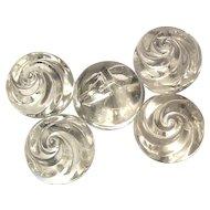 Big Swirled Glass Ball Buttons