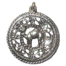 Vintage Cast Metal Camel Pendant