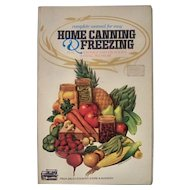 1977 Home Canning and Freezing Manual