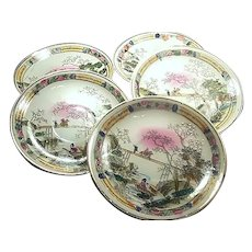 Occupied Japan MIJ Handpainted Dishes Unusual Post WWII Marked