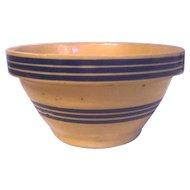 Blue Band Yellow Ware Bowl 2 Sets of Bands