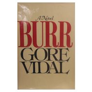 First Edition Gore Vidal Book - Burr