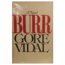 First Edition Gore Vidal Book - Burr