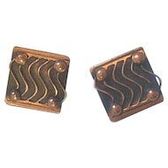 Mid-Century Modernist Copper Earrings