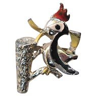 Vintage Figural Woodpecker Pin