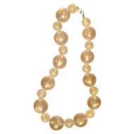 Big and Small Frosted Lucite Bubbles Necklace Fashion Statement