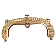 Ornate Gold Washed Antique Purse Frame circa 1860