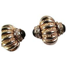 Signed CRAFT Big Statement Earrings Verrecchia Coro Head Designer