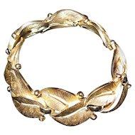Vintage Classic Trifari Florentine Leaf Bracelet