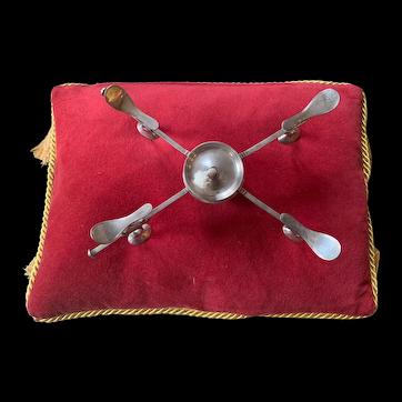 18th Century English Georgian Dish Cross