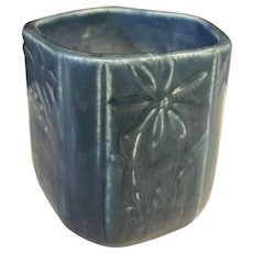 1929 Rookwood Pottery Blue Matt Vase #6107