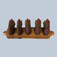 Outstanding Hand-carved Native American Indian Chief Wall Hanging