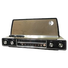 1960s Arvin HiFi Tube Radio Model 3586 AM FM and Jacks for External Tuner or Phonograph