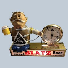 1950s Blatz Beer Cash Register Clock Light