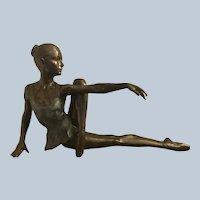 Large Exquisite Bronze Ballerina