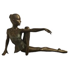 Large Exquisite Bronze Ballerina
