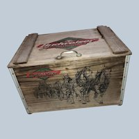 The Famous Budweiser Clydesdale Horses Wood Beer Crate