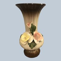 Beautiful Nuova Capodimonte Rose Flower Vase