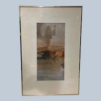 Fabulous Vintage Charles Dix Original Watercolor