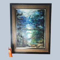"Stunning 1979 Danny Garcia Painting #4609 Acrylic Damar Varnish Painting Carmel, CA 24"" x 30"" with Frame"