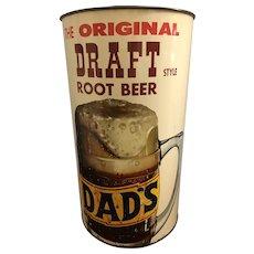 Rare Vintage Dads Root Beer Garbage Can