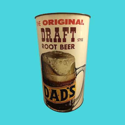 Rare Vintage Dads Root Beer Garbage Can