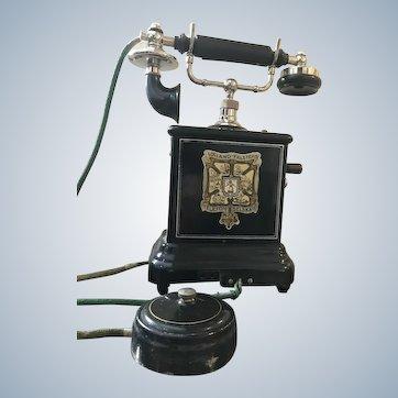 Antique Danish Crank Telephone