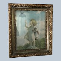 Beautiful Lithograph in Ornate Frame