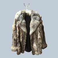 Outstanding Women's Rabbit Fur Coat