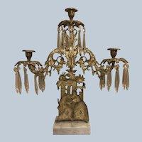 Antique 1800s Victorian Girandole Candelabra