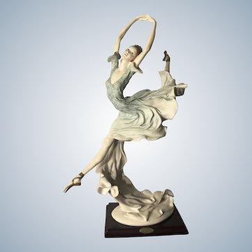 Beautiful Guiseppe Armani Porcelain Ballerina Statue 1955 Florence