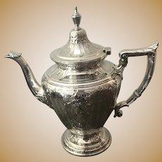 1930 Gorham Sterling Silver .925 Teapot Beautiful Maintenon Pattern