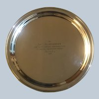 Gorham Sterling Silver Platter Awarded in 1958 to Paul W. Seagers for Design