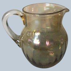 Mid-Century Iridescent Glass Pitcher