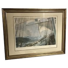 "John Stobart ""Decks Awash"" Limited Edition Signed and Numbered Print"