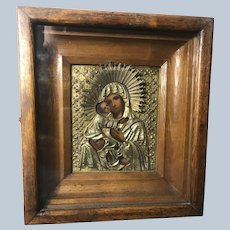 Wonderful Madonna Mother Mary and Baby Jesus Icon