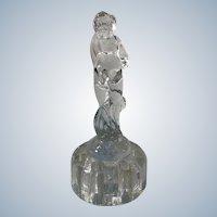 1930s Cambridge Glass Art Deco Glass Nude Figural Flower Frog