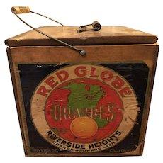 Red Globe Oranges Crate Riverside Heights, CA