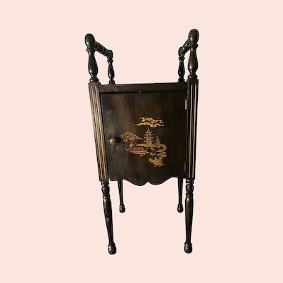 Nice Copper Lined Smoking Stand Humidor